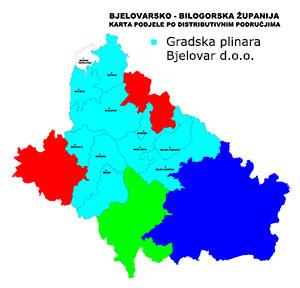 Distribucijsko područje - plinara Bjelovar